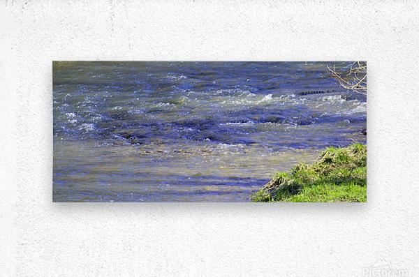 Calming waters  Metal print