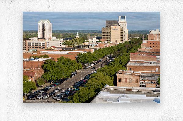 Broad Street Downtown Augusta GA Aerial View 8259  Metal print