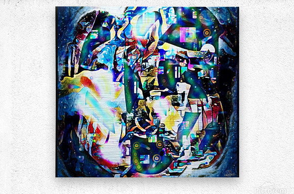 Dance Of Creative Mind   Metal print