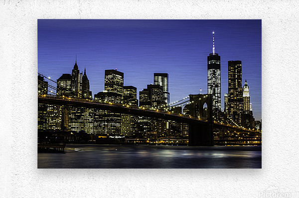 NY City Lights   Metal print