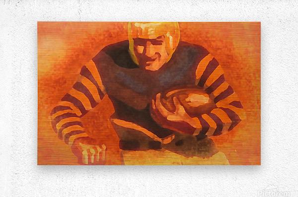 vintage football posters vintage football jersey old helmet poster_1586306536.6399  Metal print