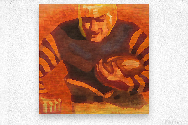 vintage football posters vintage football jersey fine art sports print  Metal print