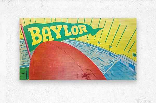 Baylor Bears Football Pennant Poster (1935)  Metal print