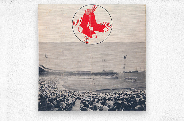 Vintage Fenway Park Poster_Boston Red Sox Photo Reproduction  Metal print