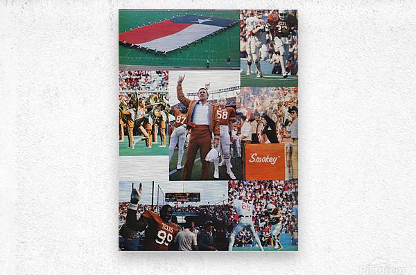 Texas Longhorns Football Poster_Texas Longhorn College Football Photo Collage  Metal print