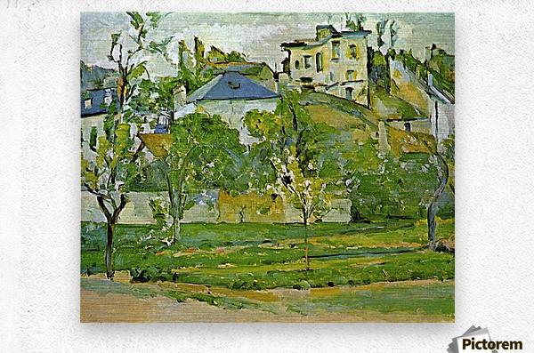 Fruit garden in Pontoise by Cezanne  Metal print