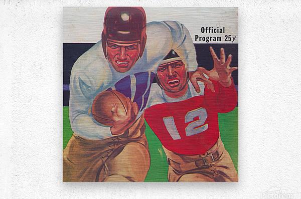 Vintage Football Framed Program Cover Art Posters (1937)  Metal print