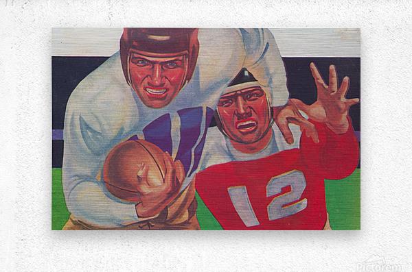 Vintage Football Fine Art Prints_ Old Football Art Poster  Metal print