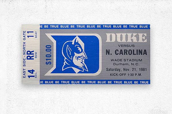 1981 Duke vs. North Carolina  Metal print