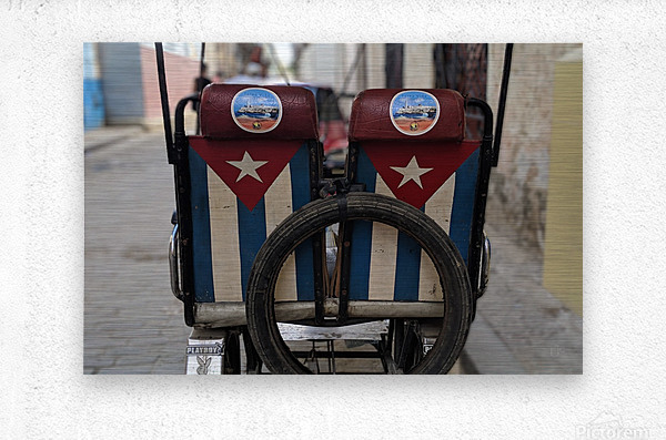 Cuban Bicycle Taxi  Metal print