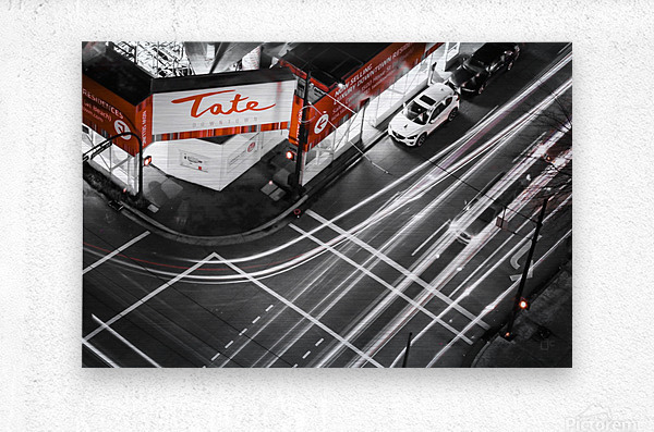 Street long exposure  Metal print