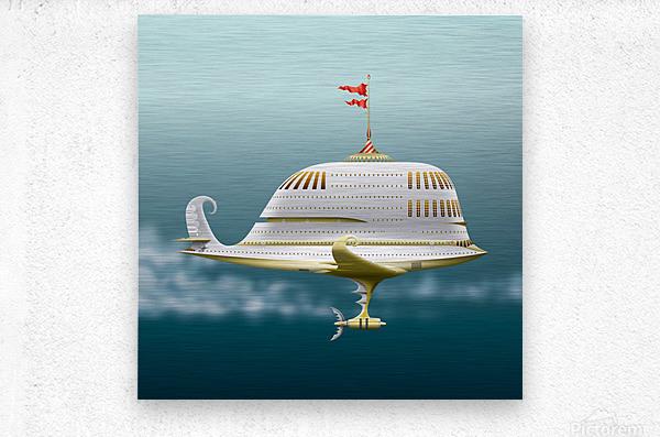 Imbarcazione Volante Dommo  Metal print