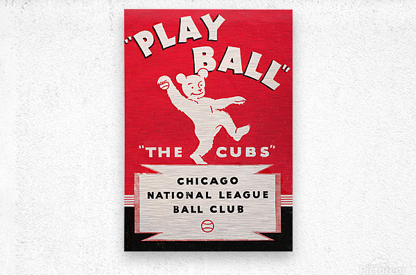 1934 Chicago Cubs   Metal print