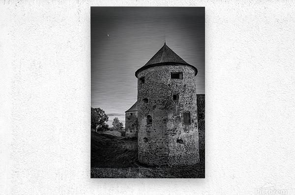 Old castle tower  Metal print