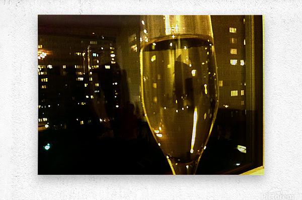 Champagne 4  Metal print