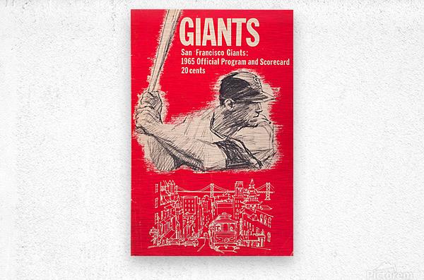 1965 san francisco giants program baseball scorecard poster  Metal print