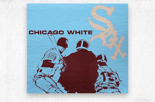 Chicago White Sox Baseball Poster Fine Art  Metal print