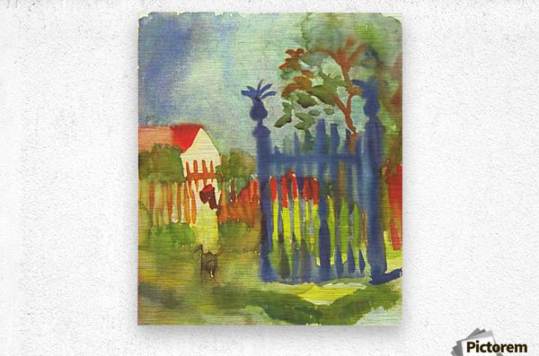 Garden gate by Macke  Metal print