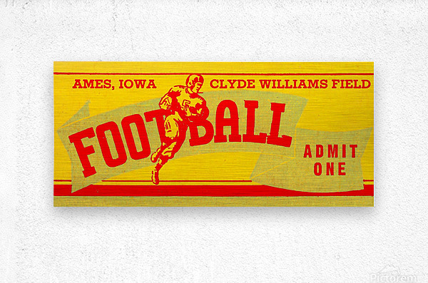 Vintage Iowa State  Metal print