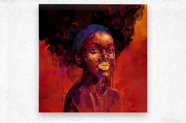 BELLEZA AFRO  Metal print