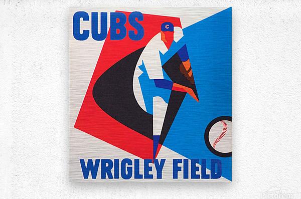 Cubs Wrigley Field Art  Metal print