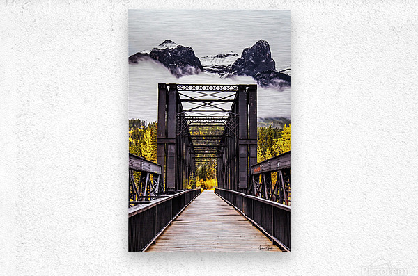 The Engine Bridge Canmore  Metal print