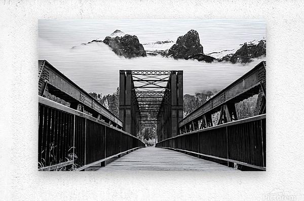Canmore Iconic Engine Bridge  Metal print