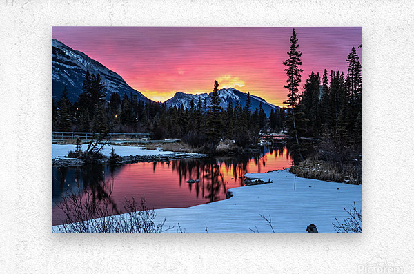 Sunrise At Policemans Creek Alberta  Metal print