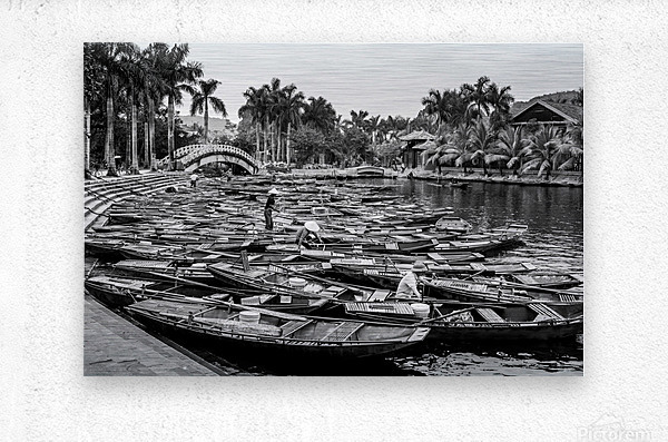 Boats in the river of Vietnam  Metal print