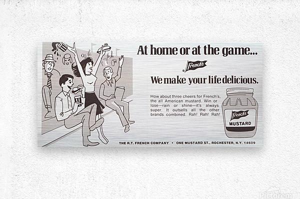 vintage frenchs mustard ad retro food advertisements poster print metal sign wood art  Metal print