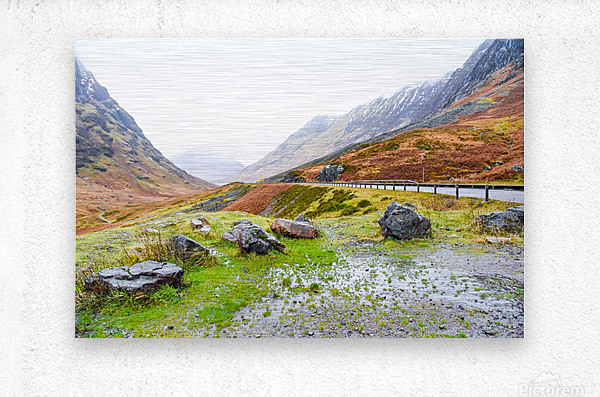 Glen Coe Scotland Highland United Kingdom  Metal print