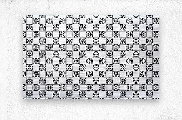 seamlesstilederivativepattern  Metal print