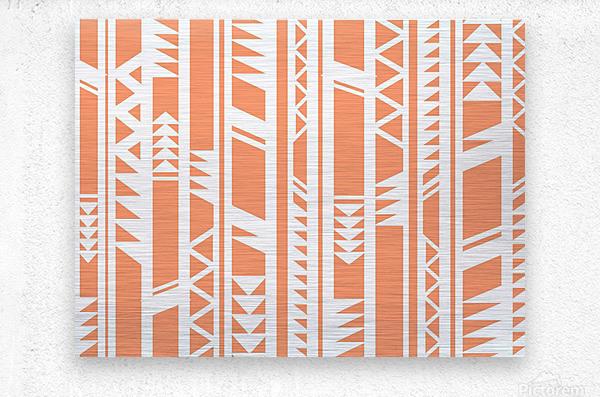 tribal pattern  Metal print