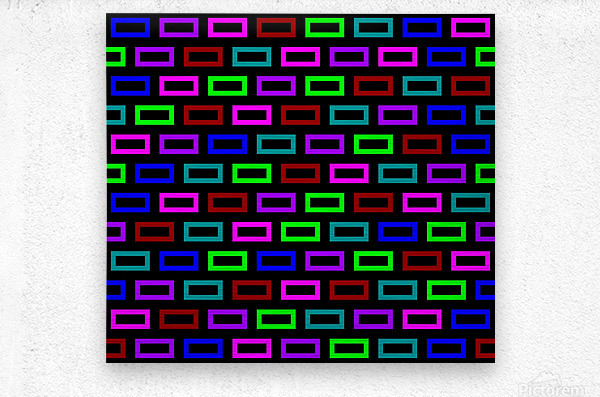 colourfulbrickspatterncolour  Metal print