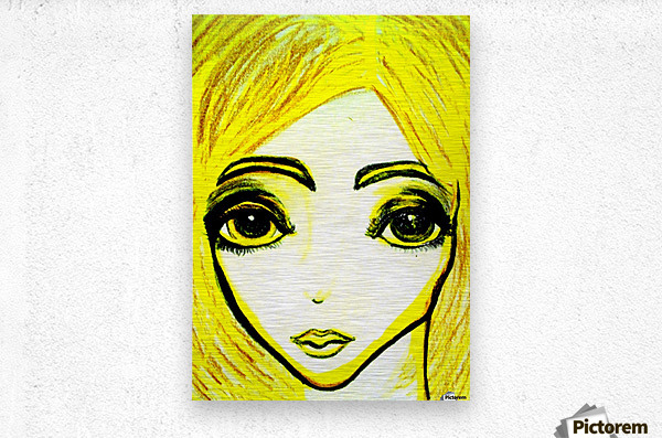 yellowgirl1  Metal print