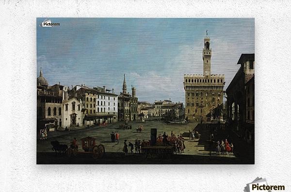 The Piazza della Signoria in Florence  Metal print