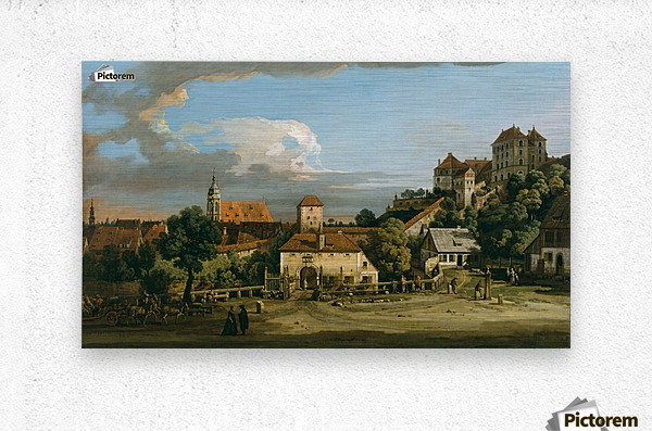 Pirna - The Obertor from the South  Metal print