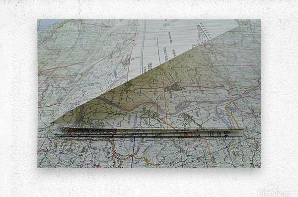 map navigation orientation drawing geography  Metal print