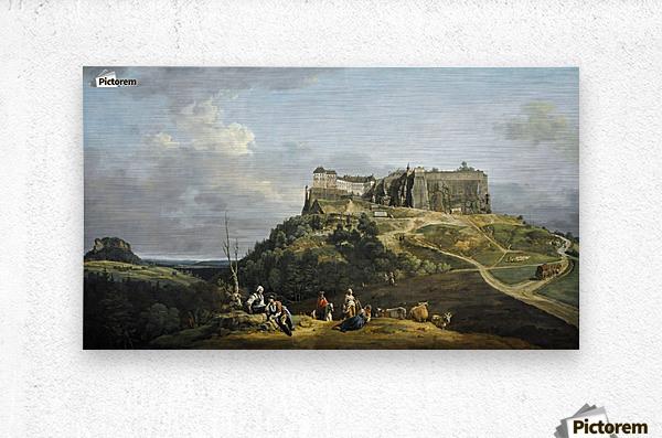 Festung Konigstein  Metal print