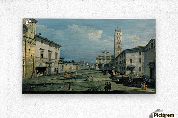 The Piazza San Martino and the Cathedral  Metal print