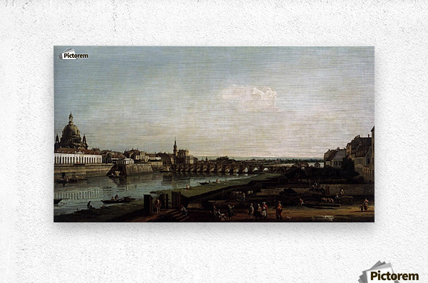 Dresden from the Right Bank of the Elbe, above the Augustusbrucke  Metal print