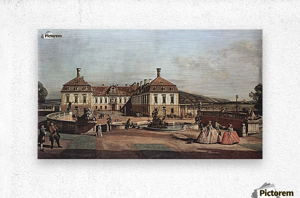 The imperial summer residence, courtyard  Metal print
