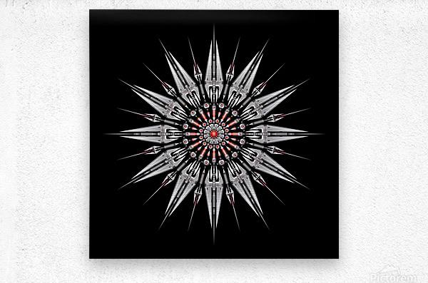Garnet Reactor Mandala  Metal print