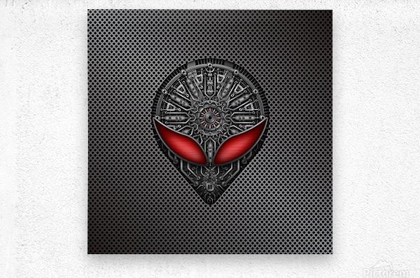 Altered Carbon Red Eye Reactor  Metal print