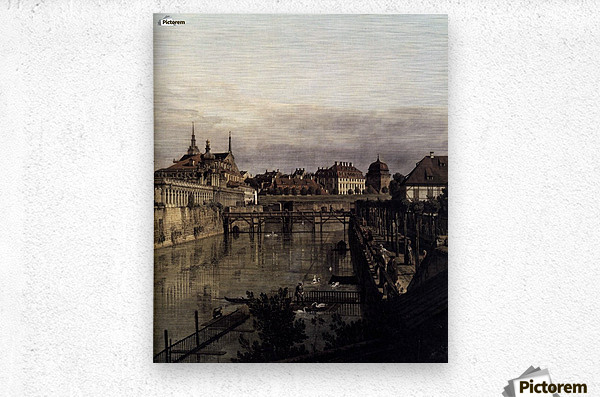 The Moat of the Zwinger in Dresden  Metal print
