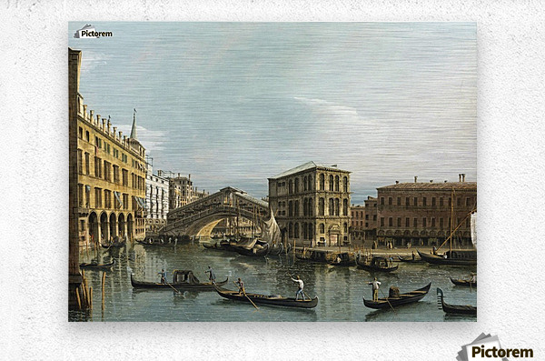 Venice. View of the Grand Canal with the Rialto Bridge, Seen from the North  Metal print
