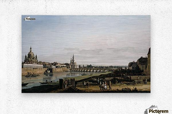 Dresden vom rechten Elbufer  Metal print