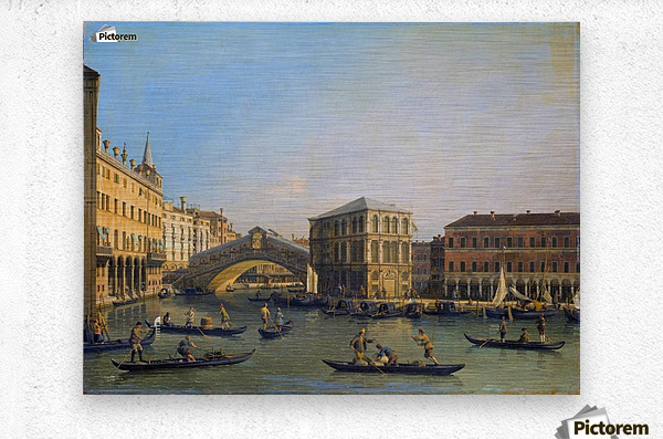 Rialto Bridge Canaletto  Metal print
