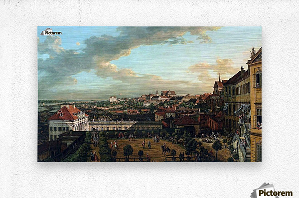 View of Warsaw from the terrace of the Royal Castle  Metal print