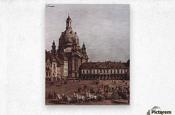 Der Neumarkt in Dresden  Metal print